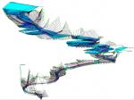 Prostorna geometrija korita rijeke Vrbas unešena u programski paket HEC RAS